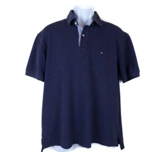 Tommy Hilfiger Mens Navy Blue Polo Shirt M1686